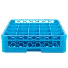 Carlisle RG25-114 Opticlean 25 Compartment Glass Rack with 1 Extender