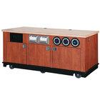 Vollrath 75728 6-Series 6' Black Beverage Cart