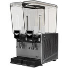 Vollrath VBBE2-37-S Double 5.28 Gallon Bowl Refrigerated Beverage Dispenser with Stirring Paddle Circulation - 115V