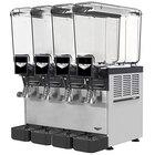 Vollrath VBBC4-37-A Quadruple 2.11 Gallon Bowl Refrigerated Beverage Dispenser - 115V
