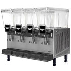 Vollrath VBBD4-37-F Quadruple 3.17 Gallon Bowl Refrigerated Beverage Dispenser with Fountain Spray Circulation - 115V