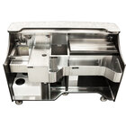 Perlick MOBS-66TE-S Signature 66 inch Stainless Steel Mobile Bar with Ice Chest and Sink - 120V