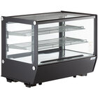 Avantco BCS-35-HC 34 1/2 inch Black Refrigerated Square Countertop Bakery Display Case with LED Lighting