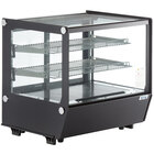 Avantco BCS-28-HC 27 1/2 inch Black Refrigerated Square Countertop Bakery Display Case with LED Lighting