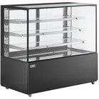 Avantco BCD-60-SB 60 inch Black Square Dry Bakery Display Case