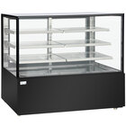 Avantco BC-72-SB 72 inch Black Square Refrigerated Bakery Display Case with LED Lighting
