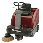 Minuteman Kleen Sweep Series 40 inch Rider Battery Operated Floor Sweeper with Quick Charge QP Charger