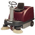 Minuteman Kleen Sweep Series 47 inch Rider Battery Operated Floor Sweeper with Quick Charge QP Charger