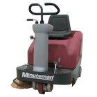 Minuteman Kleen Sweep Series 32R 26 inch Rider Battery Operated Floor Sweeper with Quick Charge QP Charger