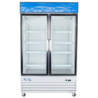 Avantco GDC40 48 inch Swing Glass Door White Merchandiser Refrigerator