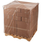 Lavex Industrial 44 inch x 44 inch x 70 inch 4 Mil Clear Gusseted Polyethylene Pallet Cover on a Roll - 25/Roll