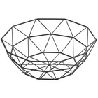 Tablecraft 10464 Delta 10 inch Black Stainless Steel Round Wire Serving Basket