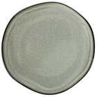 International Tableware LU-16-AS Luna 10 1/2 inch Round Ash Coupe Porcelain Plate - 12/Case