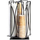 Cal-Mil 369-13 Iron Black Revolving Cup / Lid Organizer - 8 inch x 8 inch x 17 1/2 inch