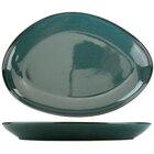 International Tableware LU-139-MI Luna 13 1/4 inch x 9 1/4 inch Midnight Blue Oval Coupe Porcelain Platter - 12/Case