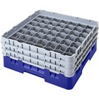 Cambro 49S318168 Blue Camrack Customizable 49 Compartment 3 5/8 inch Glass Rack