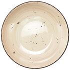 International Tableware RT-110-WH Rotana 40 oz. Wheat Porcelain Pasta Bowl - 12/Case