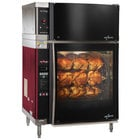 Alto-Shaam AR-7EVH-SGLPANE Single Pane Flat Glass Rotisserie Oven with 7 Spits and Ventless Hood - 208V, 3 Phase