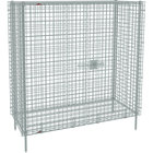 Metro SEC56S Stainless Steel Stationary Wire Security Cabinet 62 1/2 inch x 27 1/4 inch x 66 13/16 inch