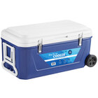 Choice Blue 84 Qt. Cooler with Wheels and Tow Handle