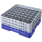 Cambro 49S958168 Blue Camrack Customizable 49 Compartment 10 1/8 inch Glass Rack