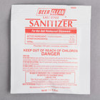 Diversey 90223 Beer Clean Sanitizer 0.25 oz. Packet - 100/Case