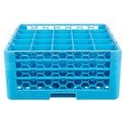 Carlisle RG25-314 OptiClean 25 Compartment Glass Rack with 3 Extenders