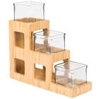 Cal-Mil 1486 Three Tier Bamboo Jar Display - 5 inch x 14 inch x 13 inch