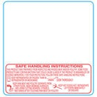 Tor Rey 1378-S/H 58 mm x 60 mm White Safe Handling Pre-Printed Equivalent Scale Label Roll - 12/Case