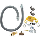 Dormont RG7560 ReliaGuard 60 inch Gas Connector Kit with Standard Snap Quick-Disconnect, 2 Elbows, and Restraining Cable - 3/4 inch Diameter