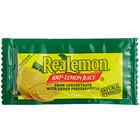 ReaLemon 4 Gram 100% Lemon Juice Packets - 200/Case
