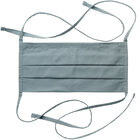 Mercer Culinary M69020LGY Light Gray Reusable Pleated Cotton Protective Face Mask with Filter Pocket - 8 1/2 inch x 4 inch