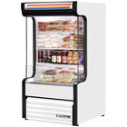 True TAC-14GS-LD 30 inch White Refrigerated Glass Sided Air Curtain Merchandiser - 16.2 Cu. Ft.