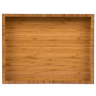 Cal-Mil 1339-60 Bamboo 16 inch x 11 inch Display Tray