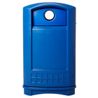 Rubbermaid FG396873BLUE Plaza Blue Bottle and Can Recycling Container 50 Gallon