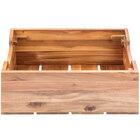 Tablecraft 300101 Half Size 7 3/8 inch Deep Acacia Wood Food Box / Display Crate