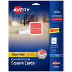 Avery Clean Edge 35702 2 1/2 inch Square Cards with Rounded Edges for Inkjet Printers - 180/Pack