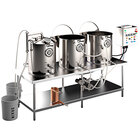 Spike Brewing Spike Trio 50 Gallon System with NPT Fittings, Double Batch Control Panel, Brew Table, and Wort Chiller