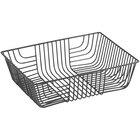 Acopa Rectangular Black Wire Basket - 12 inch x 9 inch