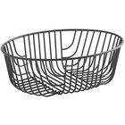 Acopa Oval Black Wire Basket - 10 inch x 7 inch