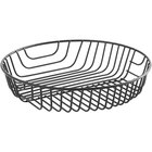 Acopa Round Black Wire Basket - 10 inch x 2 inch