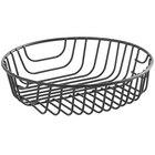 Acopa Round Black Wire Basket - 8 inch x 2 inch