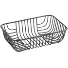 Acopa Rectangular Black Wire Basket - 9 inch x 6 inch