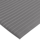 San Jamar KM4360GY 3' x 60' Gray Anti-Fatigue Vinyl Sponge Floor Mat Roll - 3/8