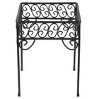 American Metalcraft PSS77 7 inch x 9 inch Contempo Black Scroll Square Pizza Stand