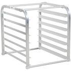 7 Pan Aluminum End Load Sheet / Bun Pan Rack for Reach-In Refrigerators and Freezers - Unassembled