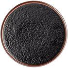 Acopa Heika 6 inch Black Matte Textured Coupe Stoneware Plate - 12/Case