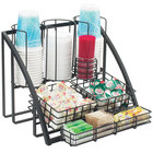 Cal-Mil 1715-13 Black Mission Condiment Organizer - 15