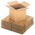 Lavex Packaging 12 inch x 12 inch x 12 inch Kraft Corrugated RSC Shipping Box - 25/Bundle