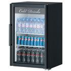 Turbo Air TGM-7SD Black Countertop Display Refrigerator with Swing Door - 7.6 cu. ft.